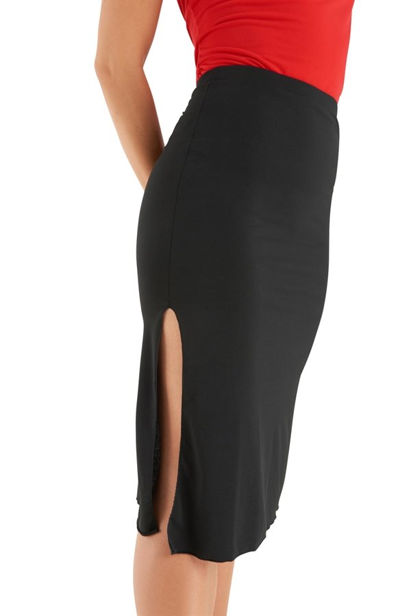 flot nederdel med slids