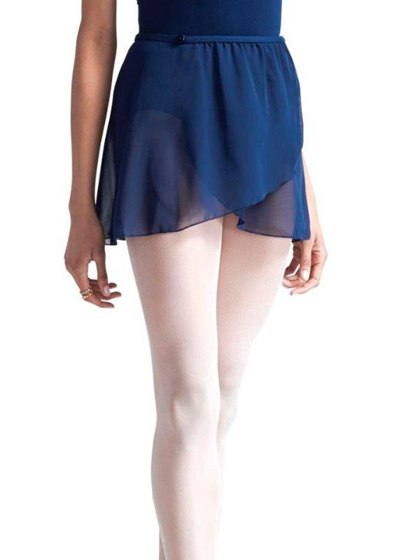 5edfe00b Capezio navy chiffon wrap skirt