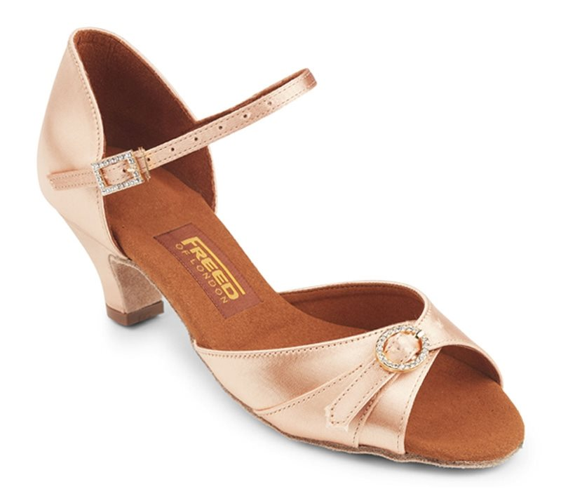 d8fb7eb02c1 Junior dansesko flesh satin leona