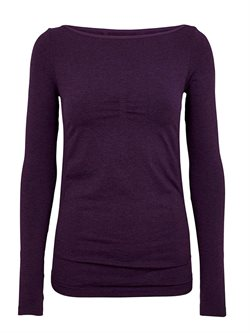 Bella Beluga lilla seamless long sleeve til yoga og dans