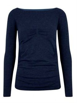Bella Beluga navy seamless long sleeve til yoga og dans