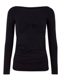 Bella Beluga sort seamless long sleeve til yoga og dans