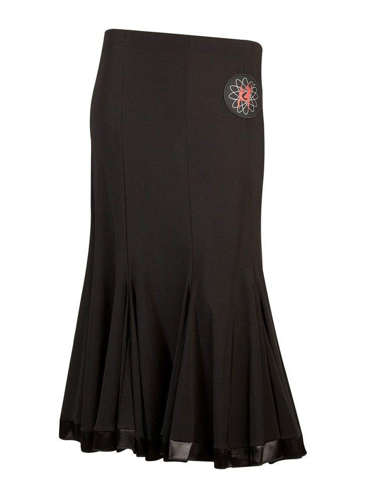 08e108ea77bb Supadance lang sort trænings nederdel til dans