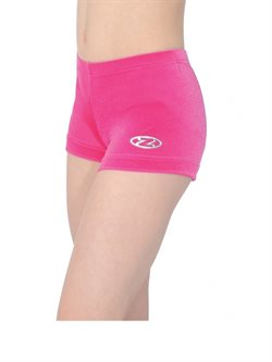 Pink basic velour shorts til dans og gymnastik